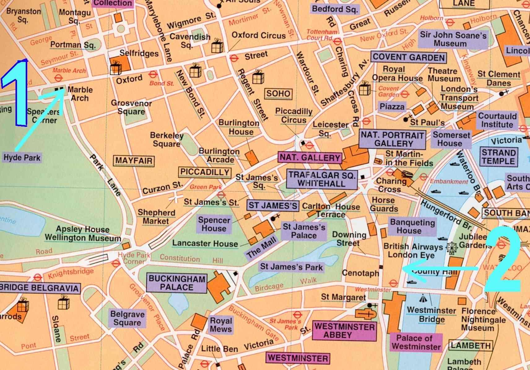 Plan touristique de paris for Carte touristique de paris